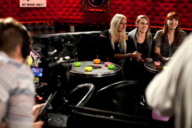 Les 3 finalistes, de gauche à droite : Naomie K, Eva de Costes et DJ Mlle Electra ©Thomas Lang Photographie