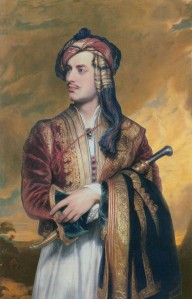 Lord Byron in Albanian dress, Thomas Phillips, 1835. (Domaine public)