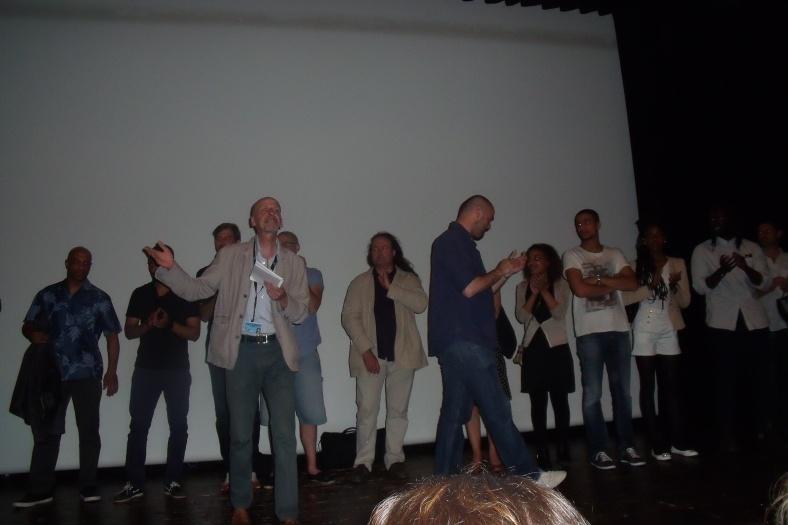 l'équipe du film Brooklyn au complet à la présentation du film à l'ACID  le dimanche 18 mai à Cannes