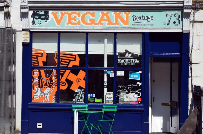 «Vegan Boutique» à Londres. Photographie : © George Rex.
